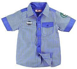 Oye Boys Half Sleeve Shirt - Blue Stripes (2-3 Y)