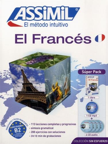 Metodo ASSIMIL - FRANCES - Superpack (1 libro + 4 CD audio + 1 CD MP3)  [Assimil] (Tapa Dura)