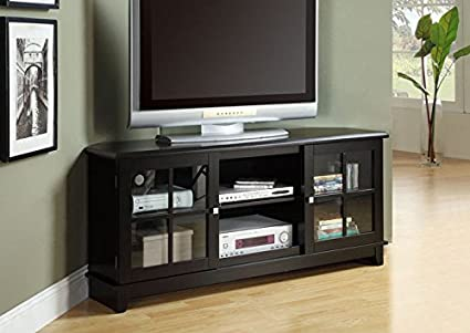 "BLACK VENEER TOP 60""L TV CONSOLE (SIZE: 60L X 18W X 27H)"