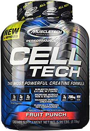 MuscleTech Cell Tech, Hardgainer Creatine Formula, Fruit Punch