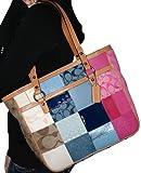 Authentic Coach F14653 Signature Patchwork Tote Handbag Purse MSRP $398