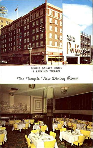 Temple Square Hotel & Parking Terrace Salt Lake City Utah Original Vintage Postcard