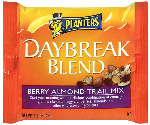 Planters Daybreak Blend Berry Almond Trail Mix, 1.5-Ounce Packages (Pack of 30)