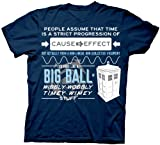 Dr. Who T-Shirt - Wibbly Wobbly Quote Mens Tee M navy