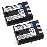 TWO Battery for Canon NB-2L NB-2LH 400D Rebel XT Xti by FunnyTech