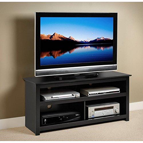 Prepac Black Vasari Flat Panel Plasma/LCD TV Console Stand picture