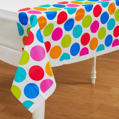 Cabana Dots Plastic Tablecover Party Accessory