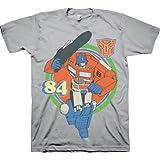Transformers Optimus Prime 84 Adult Silver T-shirt
