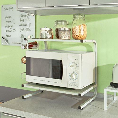 Sobuy mensola per forno a microonde mensola da cucina mensola in metallo e - Mensole in legno per cucina ...