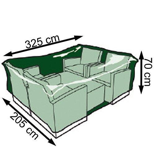 Nortene Schutzhülle Palermo Lounge für Gartenmöbel Set Stuhl + Tischhülle 240g/m² 70 x 325 x 205 cm