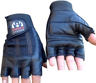 Leather Weight Lifting Gloves Gloves Power Lifting Lifter PADDED Palm Exercise Fitness Gloves Strengthen Gloves Home Gym from ZOR