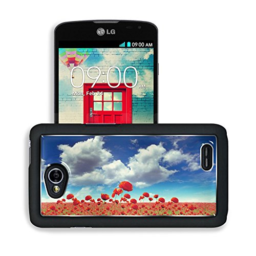 Nature Flowers Fields Outdoors Poppies Lg Optimus L70 Dual D325 Snap Cover Premium Aluminium Design Back Plate Case Open Ports Customized Made To Order Support Ready 5 2/16 Inch (130Mm) X 2 12/16 Inch (70Mm) X 11/16 Inch (17Mm) Msd L70 Professional Cases