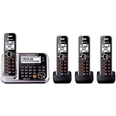Panasonic KXTG7874S DECT 6.0 4-Handset High Quality Phone System with Answering Capability