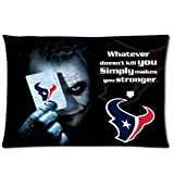 NFL Houston Texans With Joker Poker Rectangle Pillow Cases 20x30 (one side) Comfortable For Lovers And Friends For Christmas Gifts at Amazon.com