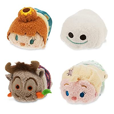 """Disney Tsum Tsum OLAF BAG SET FROZEN FEVER (Includes 3.5"""" Tsum Tsums Elsa, Anna, Sven and a Snowgie)"""