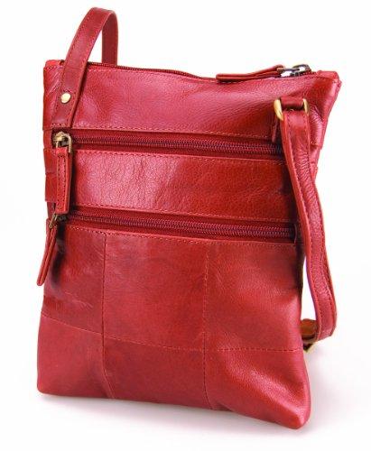 Visconti Genuine Leather Small Shoulder / Cross Body Bag Bag # 18606