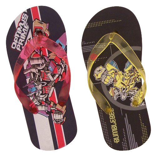 Cheap Tranformers Little Kid / Young Boys Flip Flops / Thongs Sandals Optimus Prime or Bumblebee (B004SHA2JA)