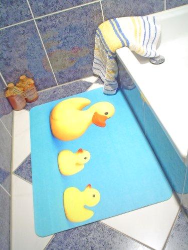 Pritty print absorbing bathroom mat 60x40 cms - Ducks
