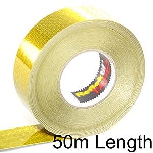 50m Yellow Reflektif® Reflective Curtain Grade Tape (ECE 104) - Solid Style