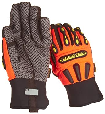"West Chester 86710 Synthetic Leather Rugged Rigger Glove, Neoprene Band Cuff, 10"" Length"