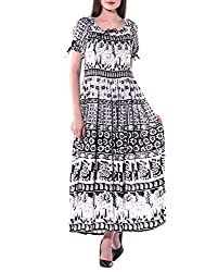 Indian Fashion Guru Womens Maxi Dress (BO-SNJ-06_Multicolor_Free Size)