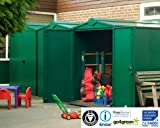 Large Metal Garden Shed 5ft x 7ft (Dark Green Self Assembly)