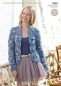 Knitting Pattern Boxy Jacket : Amazon.com - Sirdar Folksong Chunky Womens Boxy Jacket Knitting Pattern ...