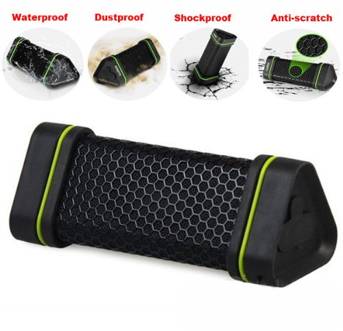 Superstar Earson Portable Outdoor Sport Waterproof Shockproof Dust-Proof Wireless Bluetooth Speaker,Powerful Loud And Clear Sound With Bass,Support All Digital Audio Device With 3.5Mm Jack Works With All Iphone, Ipad, Itouch, Blackberry, Nexus, Samsung An