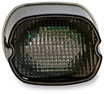 Custom Dynamics Oval Taillight with License Plate Illumination Window - Black-Out GEN2-LDW-S-B