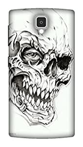 The Racoon Grip Skulls hard plastic printed back case / cover for Lenovo A1000