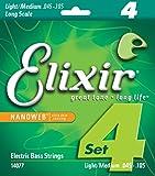 Elixir エリクサー ベース弦 NANOWEB ニッケル Long Scale Light/Medium .045-.105 #14077 【国内正規品】