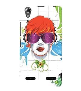 EPICCASE cool girl Mobile Back Case Cover For Lenovo A6000 (Designer Case)