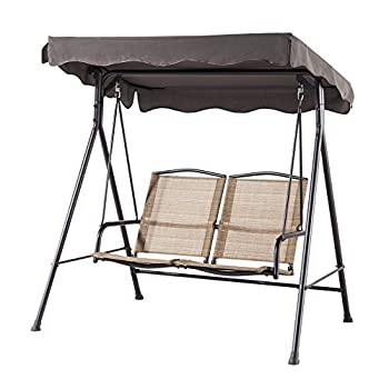 Backyard Classics Porch Swing with Stand and Awning