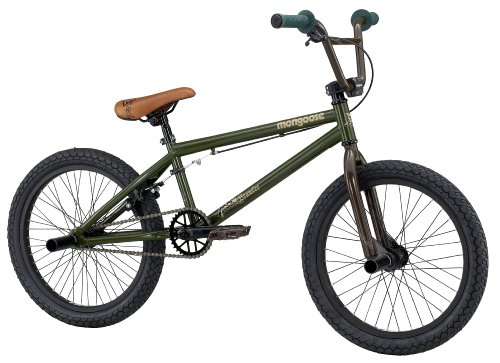 Mongoose Brawler Boy's BMX/Jump Bike (20-Inch Wheels, Army Green)