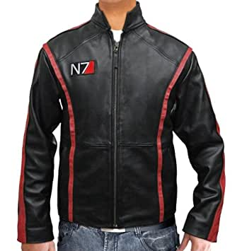 Black Leather Slim Fit Mens Mass Motorcycle Effect 3 Jacket - Real Leather (XS)