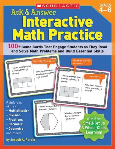 Scholastic 978-0-439-57213-2 Ask & Answer Interactive Math Practice - Grades 4-6