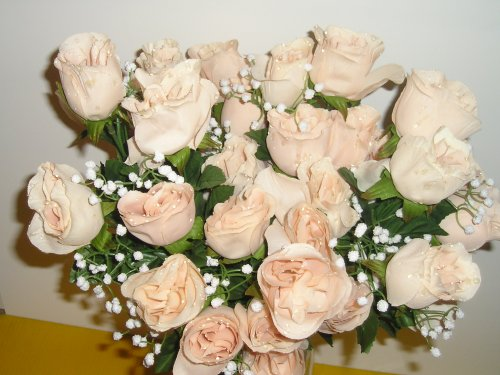 Silk Rose Tan Bouquet