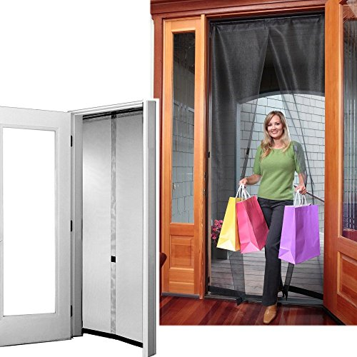 Bug off 72r by 96 instant screen reversible fits french for Six foot sliding glass door