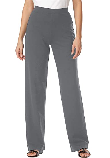 Plus size ponte knit pants