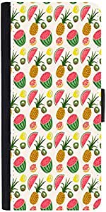 Snoogg Fruit Healthy Pattern Graphic Snap On Hard Back Leather + Pc Flip Cove...