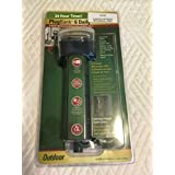 6 Outlet Mechanical 24 Hour Ground Stake Timer - With Covers and 6 Foot Cord For Outdoor Lights. Slide Pins for 24 Hours of timed settings.