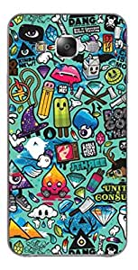 UPPER CASE™ Fashion Mobile Skin Vinyl Decal For Samsung Galaxy E5 [Electronics]