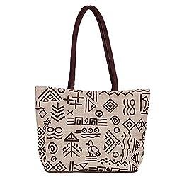 Sangeetha Bag (Handicraft Jute Bag Lb74) Women's Handbag -Brown