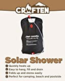 Croften Solar Shower Heats Up Fast and Built to Last for Camping or Travel 5 Gallon Bag