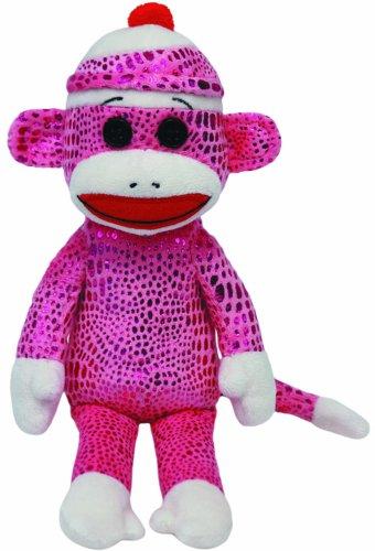 Ty Beanie Babies Sock Monkey Purple Sparkle Plush at 'Sock Monkeys'
