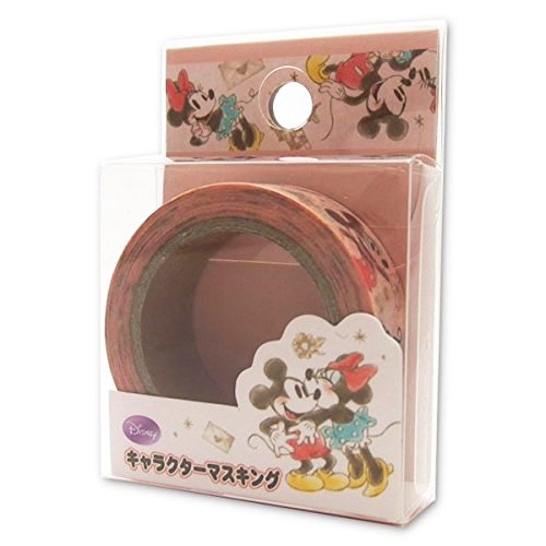 Japan Disney Official Mickey Mouse - a Romantic Valentine's Day with Minnie Pastel Pink Masking Tape Traditional Sticky Washi Paper Roll Scrapbooking DIY Wonderful Gift