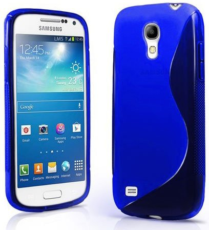 Galaxy S4 Case, Galaxy S4 Cases- S4 Case Compatible With Samsung Galaxy S4 Siv S Iv I9500 S4 Case- Soft Jelly Case Shell Cover Skin Cases By Cable And Case - Blue Galaxy S4 Case