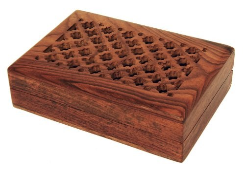Christmas Gifts Attractive Handmade Rosewood Jewelry Box With 3 Compartments front-4808