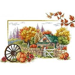 Kit de punto de cruz NKF, Alma de otoño