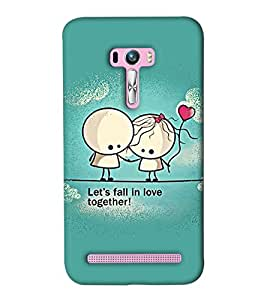 Go Yankee cute little cartoon couple Back Cover For Asus Zenfone Selfie